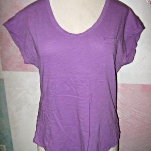 Lilac Purple 1 Pocket Stretch Short Sleeve Shirt L